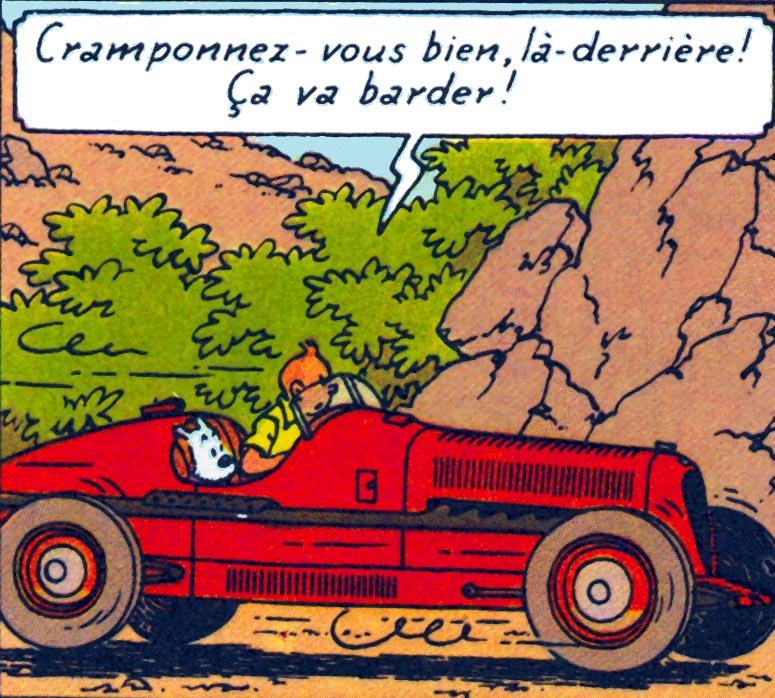 Une Alfa Romeo ou Bugatti avec une calandre d'Amilcar